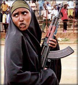 Somali woman with AK 47