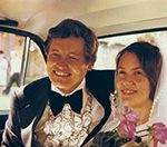 Hannu and Laura on their wedding day in Petrozavodsk July 25, 1976.
