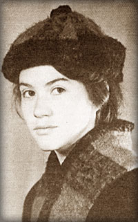 Laura as a medical student before her expulsion from the university in Russia.
