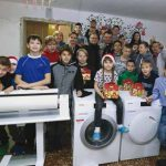 December 28, 2018. GCM Ministries purchased and delivered a new washer and dryer and a clothes press. There is no shortage of laundry with so many children.