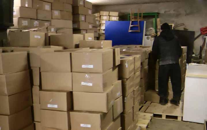 Boxes of Gospel Books