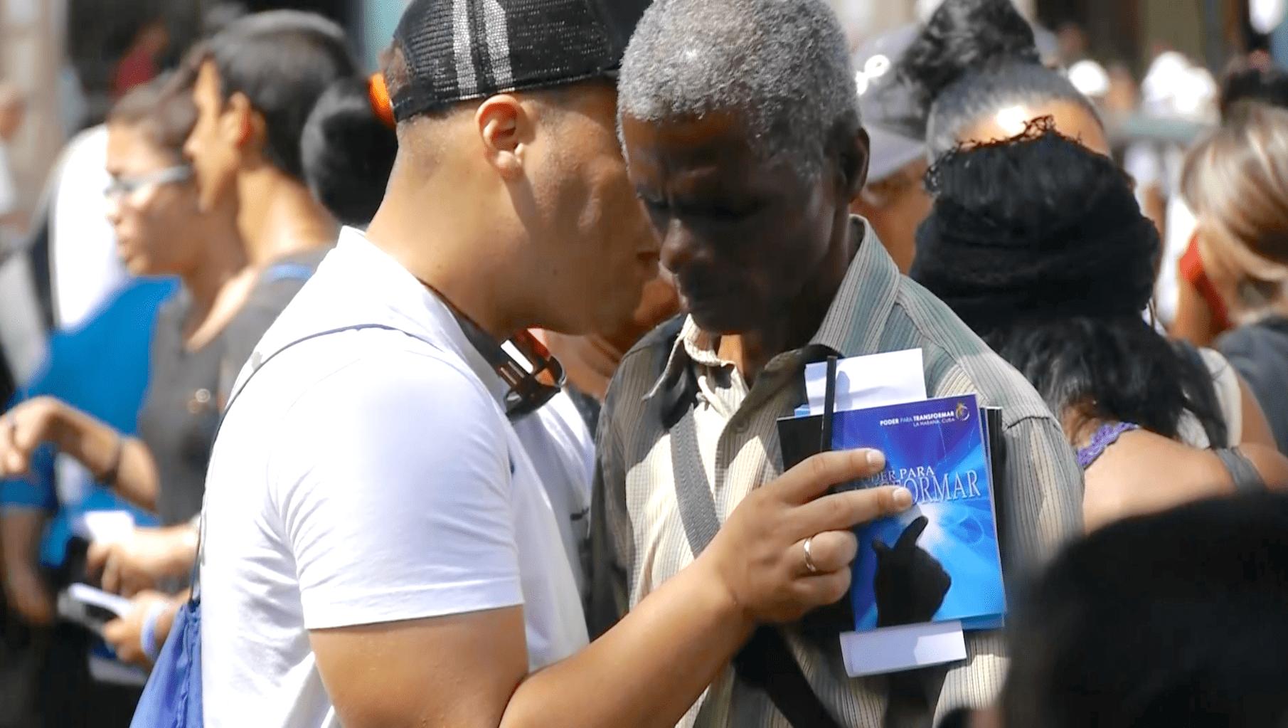 Cuba IRRTV Gospel book Pray on street-min