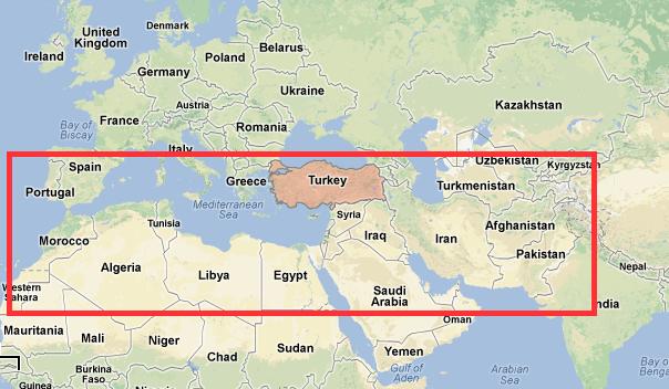 MAP ARABIC